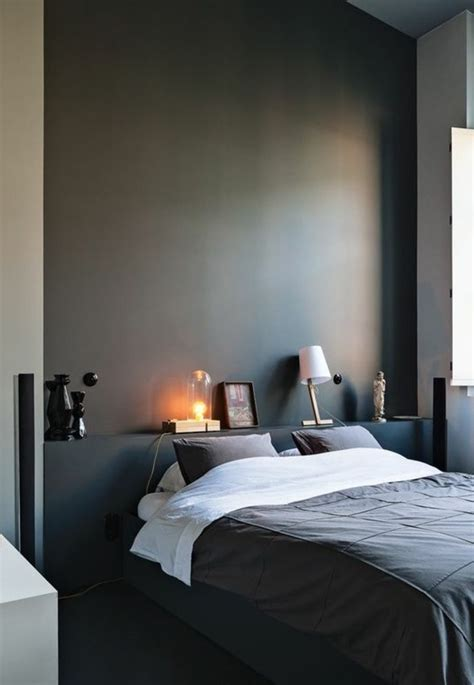 chambre noir gris chambre peinture gris fonce design de maison