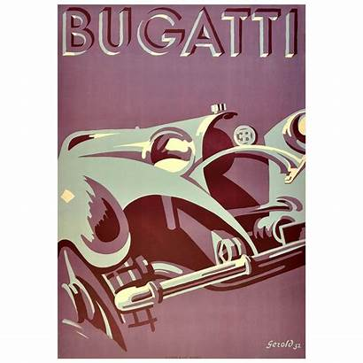 Deco Poster Advertising Bugatti Iconic Posters Gerold