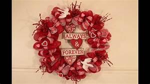 Valentines Day Deco Mesh Wreath Tutorial | Doovi