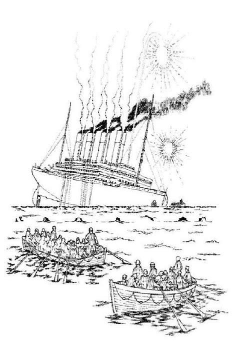 Titanic Kleurplaat by N 30 Coloring Pages Of Titanic