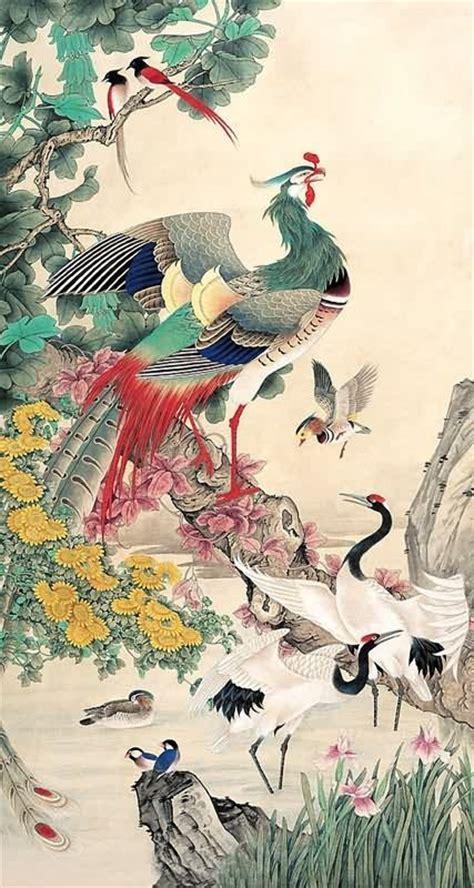 chinese phoenix painting phoenix  cm  cm