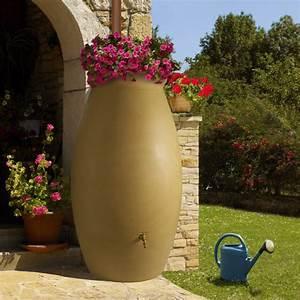 Récupérateur D Eau 1000 Litres : r cup rateur d 39 eau beige en jarre 1000 litres ~ Dailycaller-alerts.com Idées de Décoration