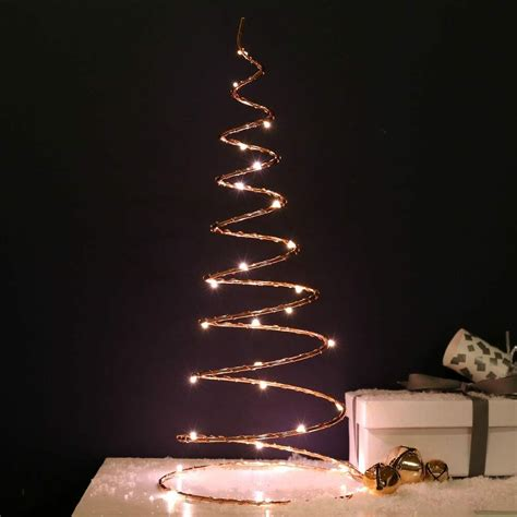 Battery Operated Tree Lights by 30cm Battery Power Led Copper Spiral Tree