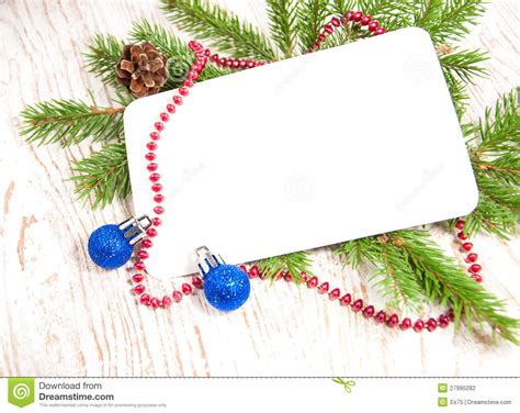 Christmas Card With Decorations Stock Photography