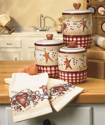 Hearts & Stars Kitchen Decor  The Lakeside Collection