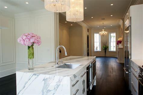 white marble kitchen island marble kitchen island kitchen modern with brownstone