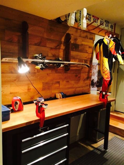 ski wax area costco bench fox custom cabinetry wall