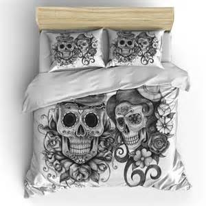 skull bedding sugar skull duvet cover set skull bedding