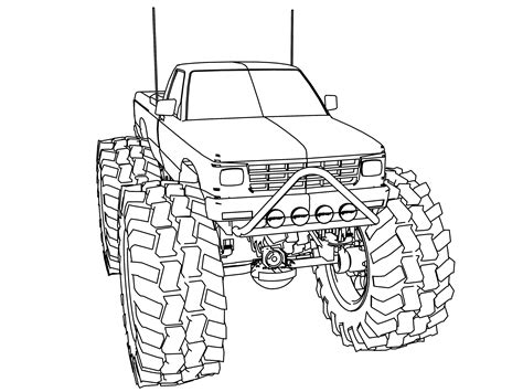 Monster Jam Coloring Pages To Print Page Image Clipart