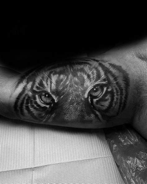 40 Tiger Eyes Tattoo Designs For Men - Realistic Animal Ink Ideas