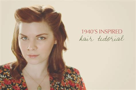 1940s Hairstyle Tutorial by 32 Vintage Hairstyle Tutorials You Should Not Miss
