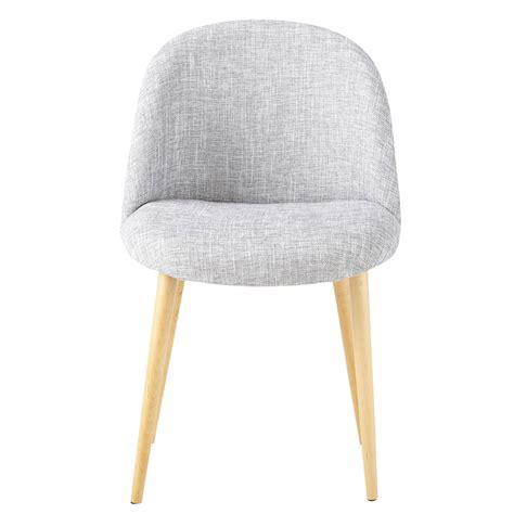 maisons du monde chaises chaise vintage en tissu gris clair chiné mauricette