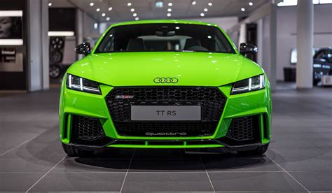 Green Car by 2017 Audi Tt Rs In Lime Green Looks Like A Tiny Car