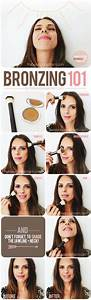 A Great Diagram Showing You How To Apply Bronzer  Need A