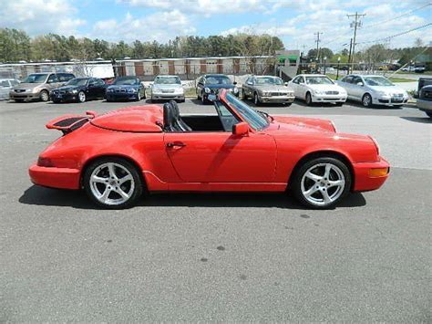 convertible porsche red 1991 porsche 911 carrera 2dr convertible 93483 miles red