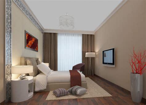 Modern Minimalist Bedroom Lighting 3d