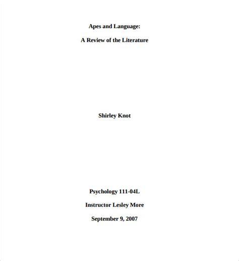 mla essay   cover page