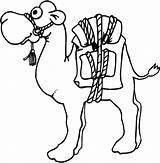 Coloring Camel Caravan Designlooter sketch template