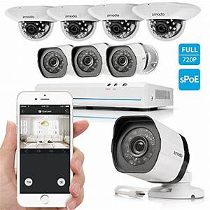 Zmodo 8 Channel Hdmi Nvr 8x720p Hd Security Camera Smart