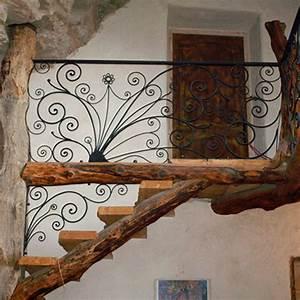 Escalier Fer Et Bois : rambarde escalier fer bois cade atelier fer et mati res ~ Dailycaller-alerts.com Idées de Décoration