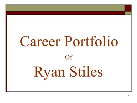 work portfolio template career portfolio