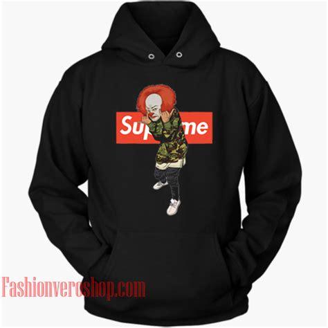 supreme clothing hoodie pennywise bape supreme hoodie unisex clothing