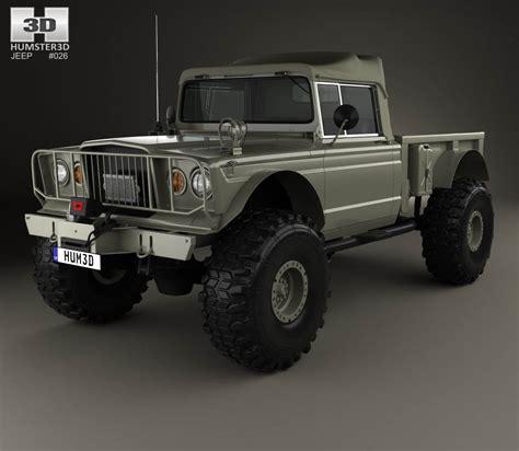 custom kaiser jeep jeep kaiser m715 olive drab ogre 1967 3d model hum3d