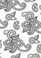 Paisley Coloring Pattern Pages Drawing Printable Tutorials Paper Styles Getdrawings sketch template