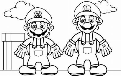 Coloring Games Pages Mario Super Sheets Printable
