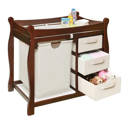 changing table badger basket sleigh changing table with her drawers