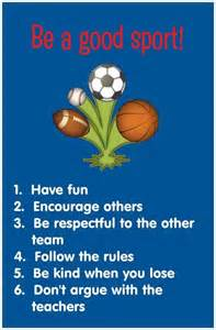 Rules for Being a Good Sport
