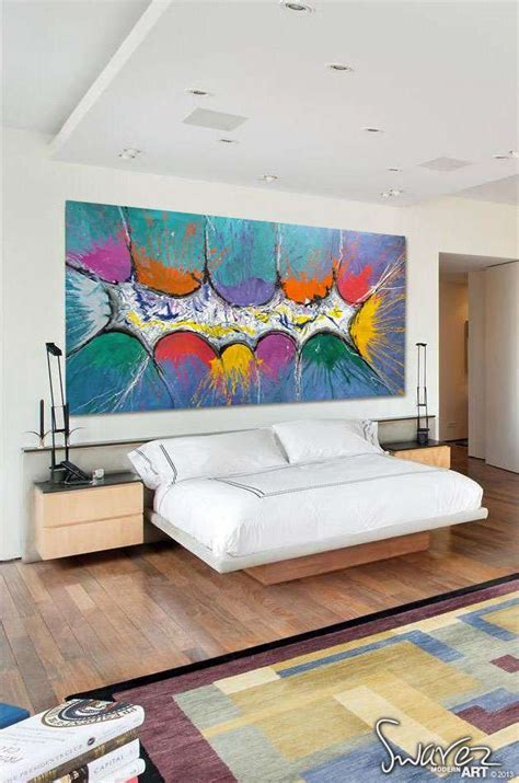 big abstract canvas painting large size multi