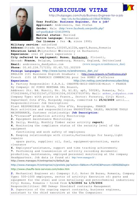 curriculum vitae for a mechanical engineer 28 images