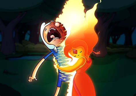 Finn thinks Flame Princess is hot by MisterDavey on DeviantArt