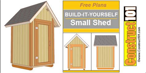 small shed building plans small garden shed plans 4 x4 gable shed construct101