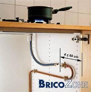 raccordement table cuisson gaz With norme robinet gaz cuisine