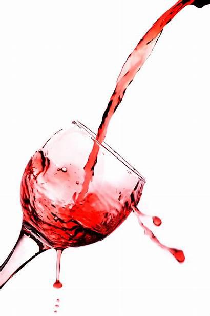 Wine Pouring Glass Clipart Vino Rosso Vetro