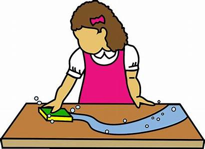 Clipart Clean Table Wipe Kitchen Counter Cleaning
