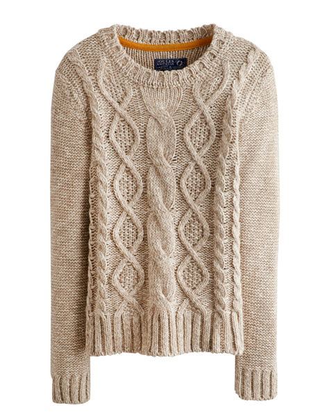 knit sweaters joules avelyn womens jumper pullover neck cable knit