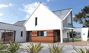 Maison Moderne Toit Plat : maison toit double pente et toit plat la chapelle sur ~ Nature-et-papiers.com Idées de Décoration