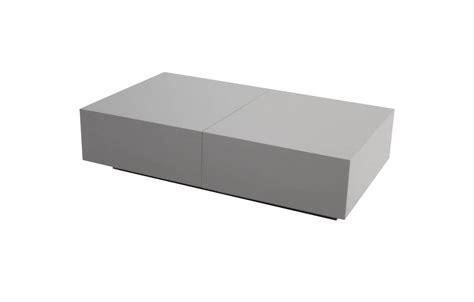 table basse design avec rangement coffre coulissant fanly 5 coloris decome store