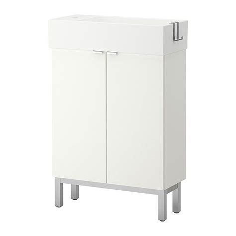Ikea Lillangen Sink Wall Mount by Lill 197 Ngen Sink Cabinet With 2 Doors White 23 5 8x10 5