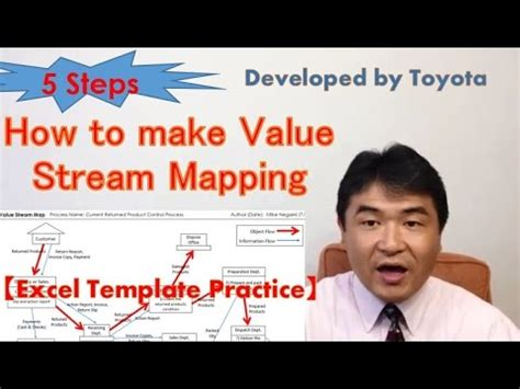 vsm  steps   stream mapping excel template youtube