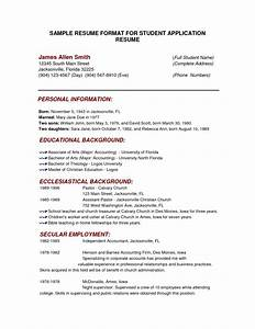College Application Resume Template