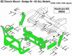 Mounting Carton Hardware Kit For All Dodge Fullsize Ez