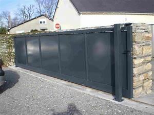 Portail Coulissant 4m Castorama : portail coulissant metal ~ Melissatoandfro.com Idées de Décoration