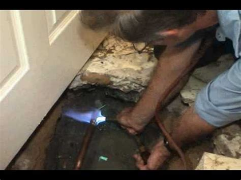 residential water slab leak detection repair job youtube