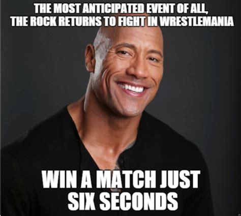 Rock Meme Rocky Wins Lol Dwayne Quot The Rock Quot Johnson Your Meme