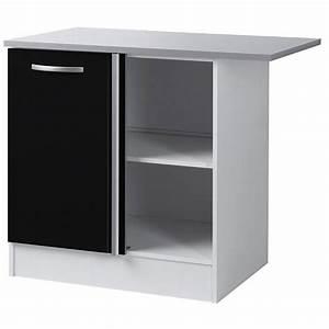 Meuble Bas D Angle Cuisine : meuble bas d 39 angle de cuisine noir 100 cm h 86 x l 100 x p 60 cm achat vente elements bas ~ Teatrodelosmanantiales.com Idées de Décoration
