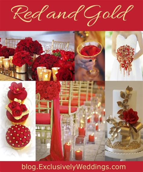 Red Wedding Color Seven Vibrant Combinations Gold